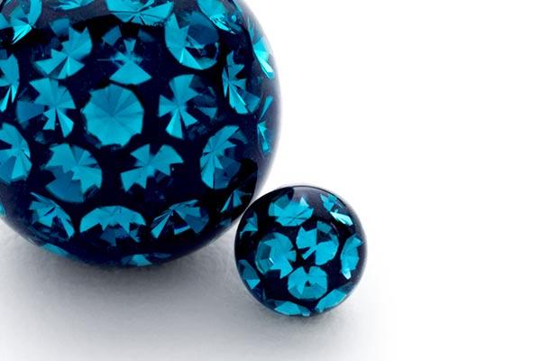 palline piercing brillantini colorati
